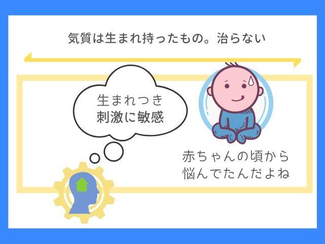 HSPは赤ちゃんの頃から影響がある
