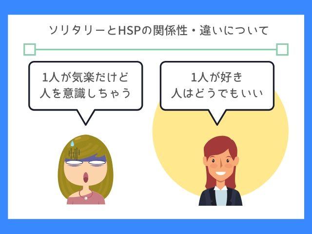 ソリタリーとHSPは基本的に違うよ
