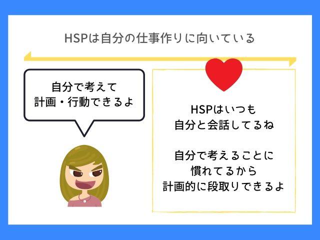 HSPは自分の仕事作りに強みを活かせる
