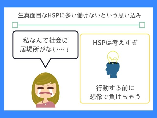 HSPは頭の中で行動して勝手に疲れてしまう