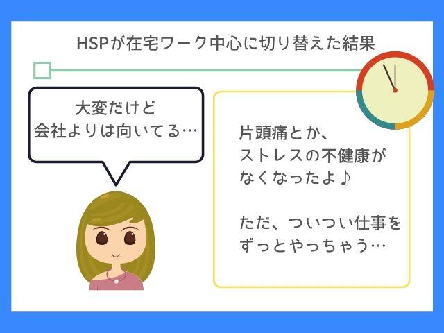 HSPは在宅ワークでストレスが減るよ