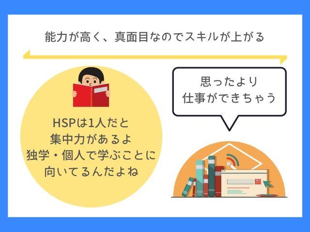 HSPは難しい仕事ができてしまう
