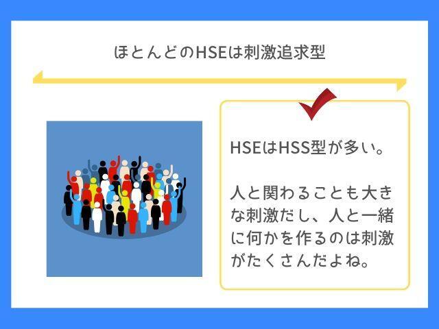 HSEはHSS型が多い