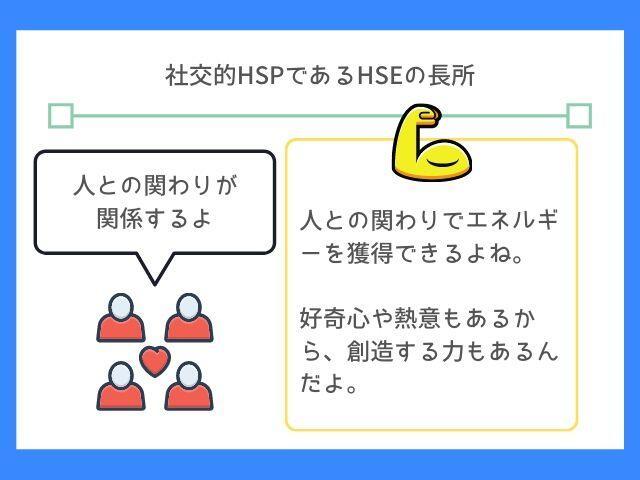 HSEはHSPとちがった長所がある