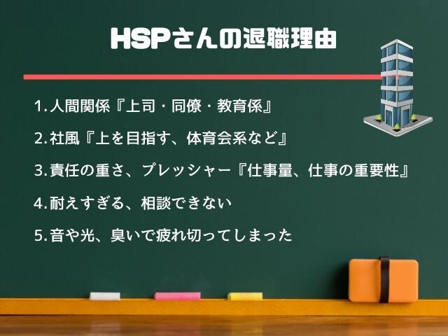 HSPさんの退職理由で多い5つ